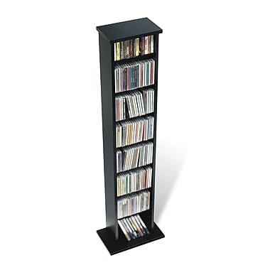 Prepac™ Slim Multimedia Storage Tower, Black