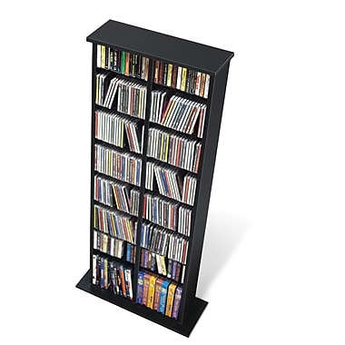 Prepac™ Double Multimedia Storage Tower, Black