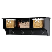 Prepac™ Sonoma Entryway Cubbie Shelf, 48 x 11.5, Black
