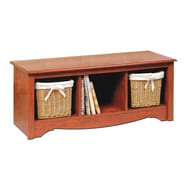 Prepac™ Composite Wood Cubbie Bench, Cherry