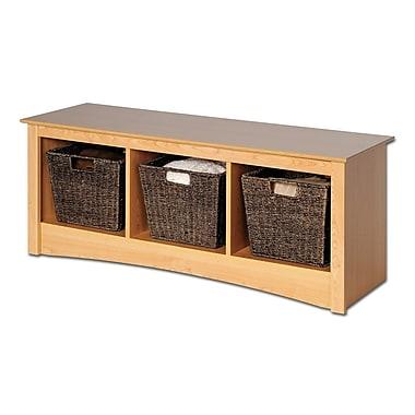 Prepac™ Composite Wood Cubbie Bench, Maple