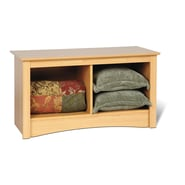 Prepac™ Composite Wood Twin Cubbie Bench, Maple