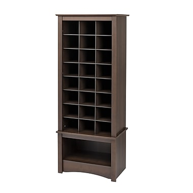 Prepac™ 61.25in. Tall Shoe Cubbie Cabinet, Espresso