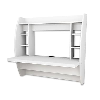 Prepac™ Floating Desk With Storage, White