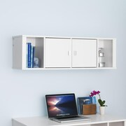 Prepac™ Designer Floating Hutch, 42.5 x 12, White