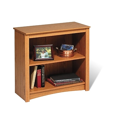Prepac™ 2 Shelf Bookcase, Oak