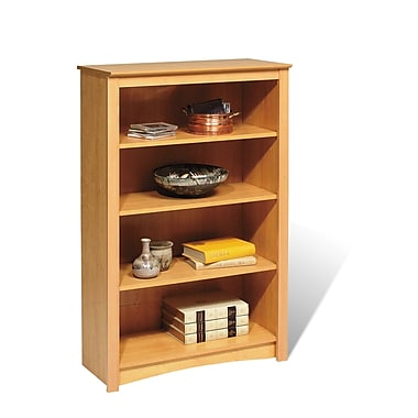 Prepac™ 4 Shelf Bookcase, Maple