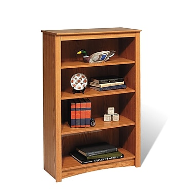 Prepac™ 4 Shelf Bookcase, Oak
