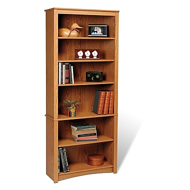 Prepac™ 6 Shelf Bookcase, Oak
