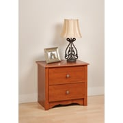 Prepac™ 21.75 Monterey 2 Drawer Nightstand, Cherry