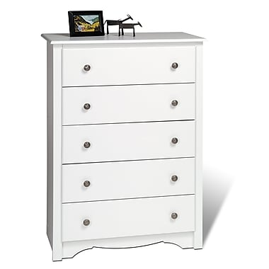 Prepac™ 45.25in. Monterey 5 Drawer Chest, White