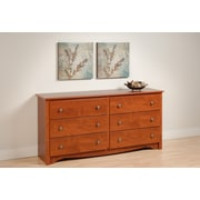 Prepac™ 29 Monterey 6 Drawer Dresser, Cherry