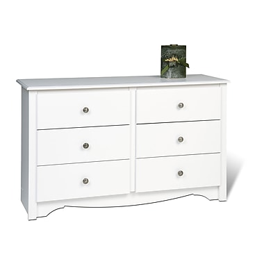 Prepac™ 29in. Monterey Children's 6 Drawer Dresser, White