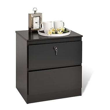 Prepac™ 21.5in. Avanti 2 Drawer Nightstands With Lock