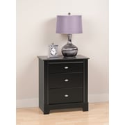 "Prepac™ 28"" Kallisto 3 Drawer Nightstand, Black"