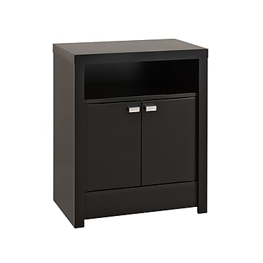 Prepac™ 28in. Series 9 Designer Collection 2 Door Tall Nightstand, Black