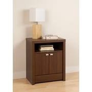 "Prepac™ 28"" Series 9 Designer Collection 2 Door Tall Nightstand, Brown Walnut"