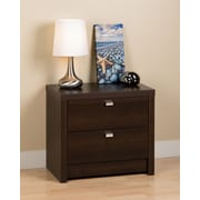 "Prepac™ 22"" Series 9 Designer Collection 2 Drawer Nightstand, Espresso"