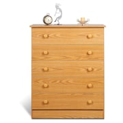Prepac™ 37.5 Edenvale 5 Drawer Chest, Oak