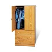 Prepac™ 60 Edenvale 3 Drawer Wardrobe, Oak