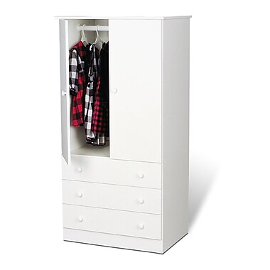 Prepac™ 60in. Edenvale 3 Drawer Wardrobe, White