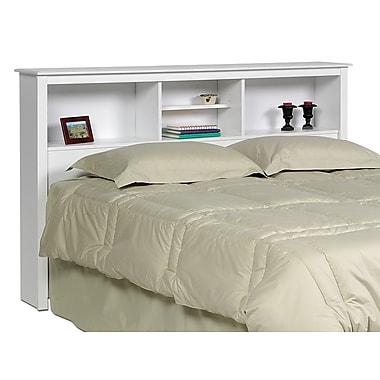 PrepacMC – Tête de lit à bibliothèque pour grand lit ou lit double, 65,75 po