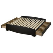 "Prepac 78-1/2"" King Mate's Platform Storage Beds With 6 Drawers"