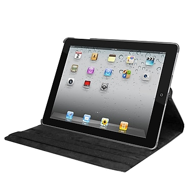 Natico Faux Leather Cover Case For iPad, Black