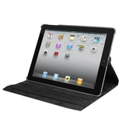 Natico 60-I360-BK Faux Leather Folio Case for Apple iPad, Black