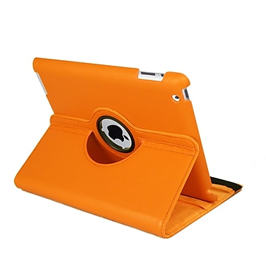 Natico 60-I360-OR Faux Leather Folio Case for Apple iPad, Orange