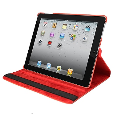 Natico Faux Leather Cover Case For iPad, Red