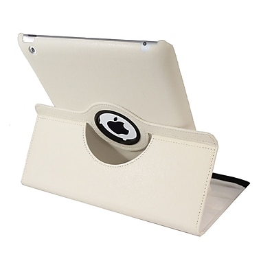 Natico 60-I360-WH Faux Leather Folio Case for Apple iPad, White