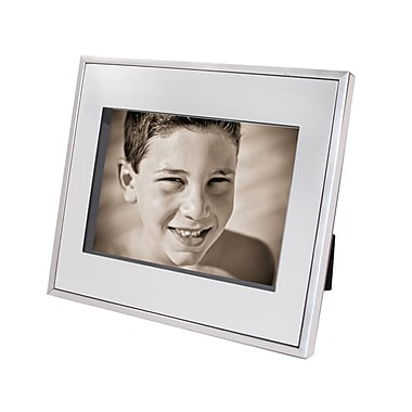 Natico Silver/Black Infinity Floating Frame, 5in. x 7in.