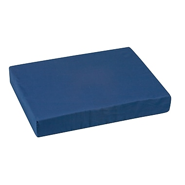 DMI® 16in. x 20in. x 3in. Foam Extra Wide Natural Pincore Wheelchair Cushion, Polyester/Cotton Cover, Navy