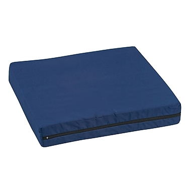 DMI® 16in. x 18in. x 2in. Foam Natural Pincore Wheelchair Cushion, Poly/Cotton Cover, Navy