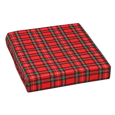 DMI® 16in. x 18in. x 3in. Foam Natural Pincore Wheelchair Cushion, Poly/Cotton Cover, Plaid
