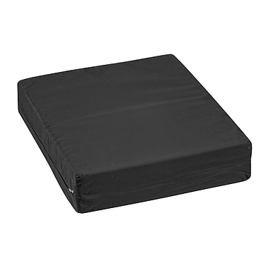 DMI® 16in. x 18in. x 4in. Foam Natural Pincore Wheelchair Cushion, Oxford Nylon Cover, Nylon Black