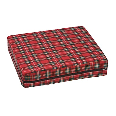 DMI® 16in. x 18in. x 4in. Foam Natural Pincore Wheelchair Cushion, Polyester/Cotton Cover, Plaid