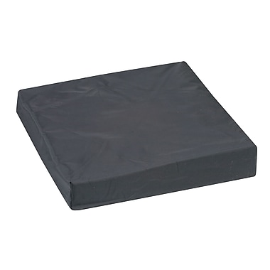 DMI® 16in. x 16in. x 3in. Foam Natural Pincore Wheelchair Cushion, Oxford Nylon Cover, Nylon Black