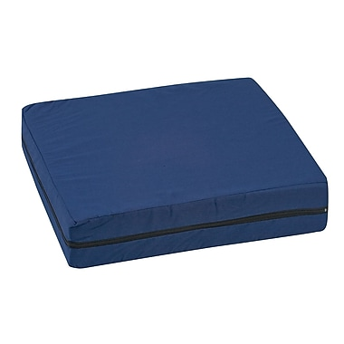 DMI® 16in. x 18in. x 4in. Polyfoam Deluxe Wheelchair Cushion, Polyester/Cotton Cover, Navy