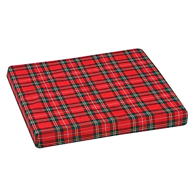 DMI® 16in. x 16in. x 2in. Foam High-Density Deluxe Wheelchair Cushion, Polyester/Cotton Cover, Plaid