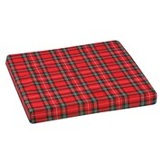 "DMI® 16"" x 16"" x 2"" Foam High-Density Deluxe Wheelchair Cushion, Polyester/Cotton Cover, Plaid"