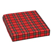 "DMI® 16"" x 18"" x 3"" Foam High-Density Deluxe Wheelchair Cushion, Polyester/Cotton Cover, Plaid"