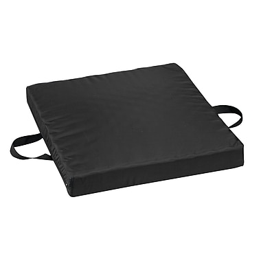 DMI® 18in. x 20in. x 2 1/2in. Gel-Foam Waffle Seat Cushion, Oxford Nylon Cover, Black
