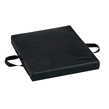 DMI® 16in. x 18in. x 2in. Gel Foam Waterproof Flotation Cushion, Leatherette Cover, Black