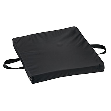 DMI® 16in. x 18in. x 2in. Gel Foam Flotation Cushion, Oxford Nylon Cover, Nylon Black