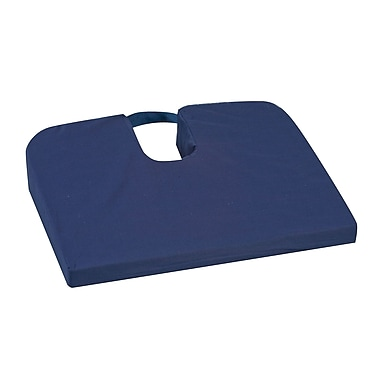 DMI® Seat Mate™ 14in. x 18in. x 1 1/2in. - 3in. Polyurethane Foam Sloping Coccyx Cushion, Navy