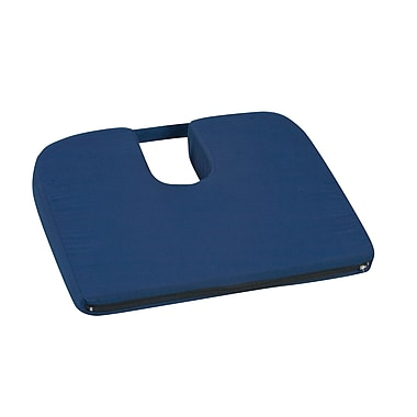 DMI® 14in. x 18in. x 1 1/2in. - 3in. Polyurethane Foam Sloping Coccyx Cushion, Navy
