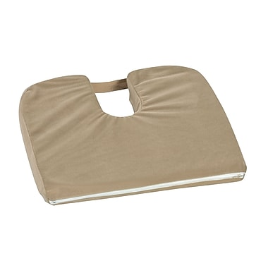 DMI® 14in. x 18in. x 1 1/2in. - 3in. Polyurethane Foam Sloping Coccyx Cushion, Camel