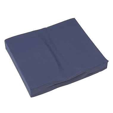DMI Seat Mate™ 16in. x 18in. x 3in. Foam Relief Coccyx Cushion, Polyester/Cotton Cover, Navy